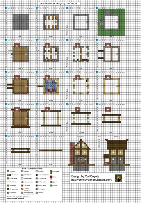 minecraft house blueprints layer by layer prototype floorplan layout mk3 wip by coltcoyote