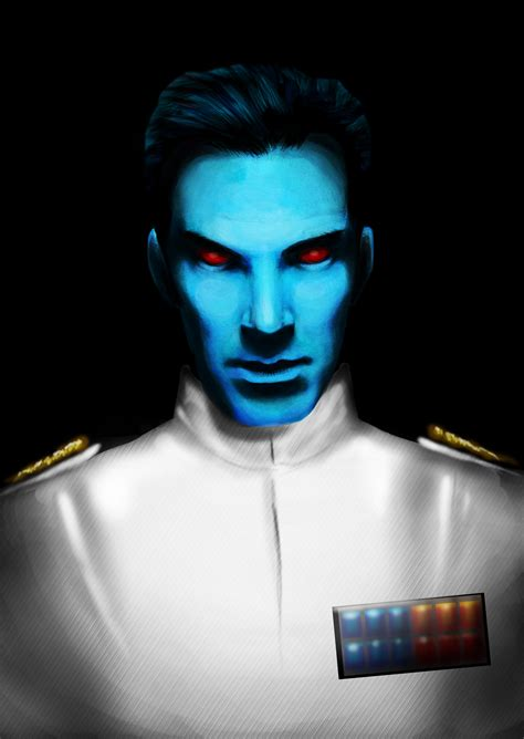 star wars thrawn my obligatory cumberbatch as thrawn painting because the man was born to play this role