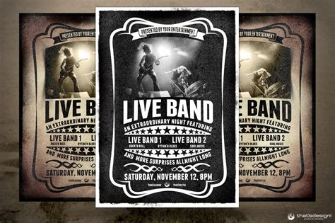free band poster templates 10 best images of concert poster design templates