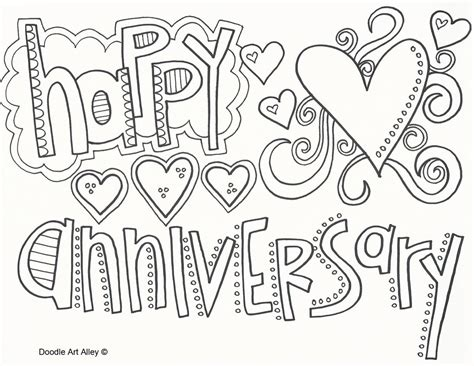 wedding anniversary activity ideas anniversary coloring pages doodle alley