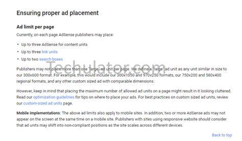 adsense new policy maximum adsense ad units per page new limits as per