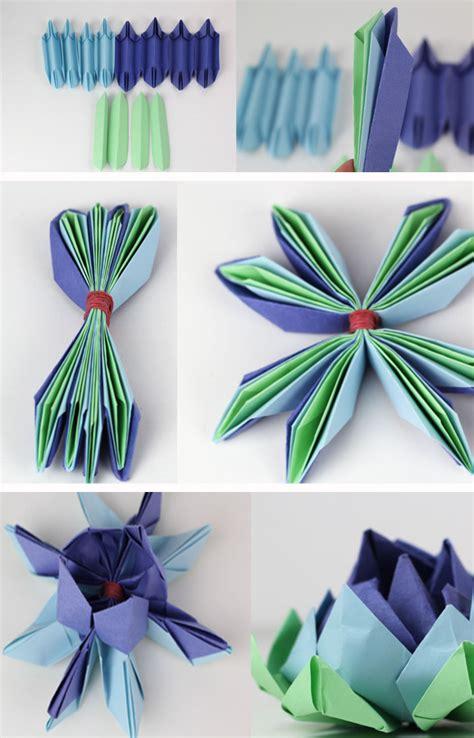 fiori origami tutorial come fare il fiore lotus origami pane e