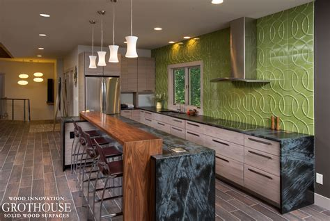 kitchen island tops ideas kitchen island bar ideas with grothouse wood surfaces blog