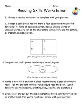 reading venn diagrams worksheets reading skills worksheet with venn diagram by mrs