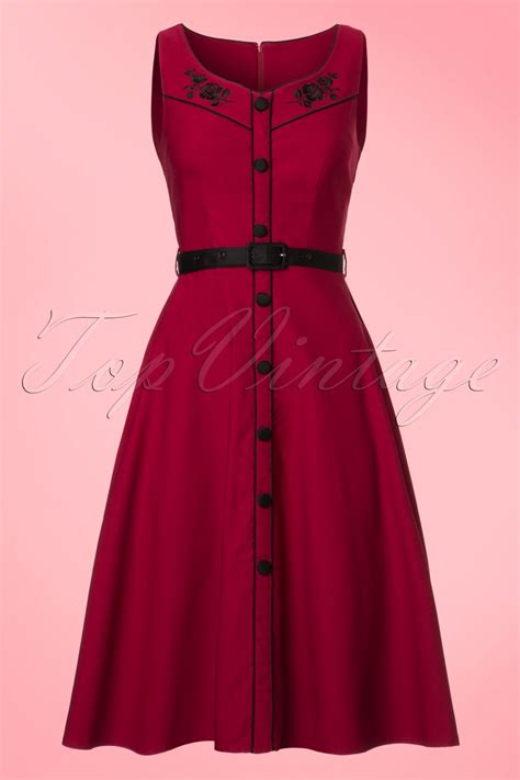 red swing dresses 50s marjorie roses swing dress in red