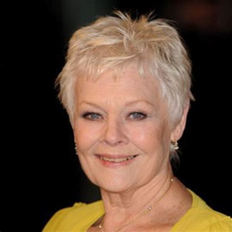 show back of judy dench hairstyle judy dench hairstyle front and back of head image short