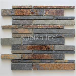 Stone Kitchen Backsplashes stone mosaic tile kitchen backsplash multicolor slate ebay