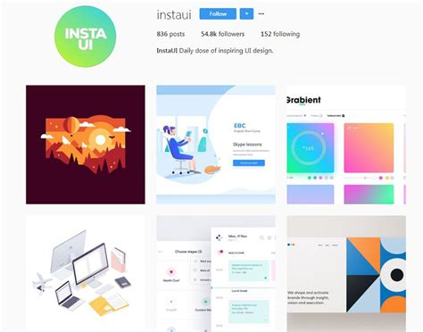 web design instagram 10 instagram accounts for ui ux design inspiration