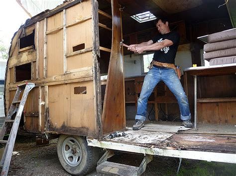 buy tiny house trailer recycling old rv trailers