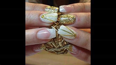 imagenes de uñas en blanco y plata modelos de u 241 as decoradas blancas con plata youtube