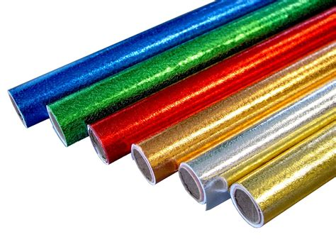 Silver Foil Paper Craft Supplies - embossed foil rolls assorted pk6 bright ideas crafts