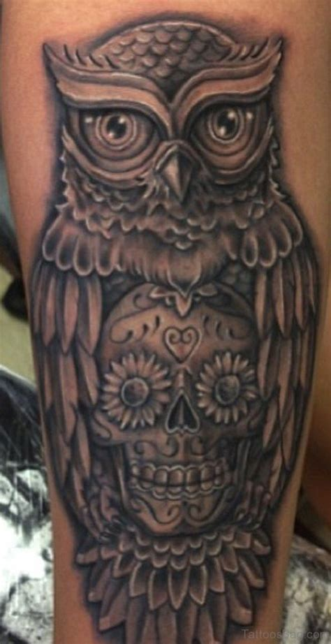 tattoo owl black and grey 73 elegant owl tattoos on leg