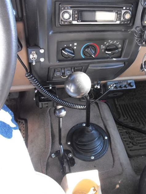 jeep custom console old cj style shifter in tj quot half console quot tj mod