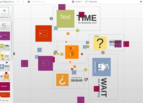 How To Change Template On Prezi square of time