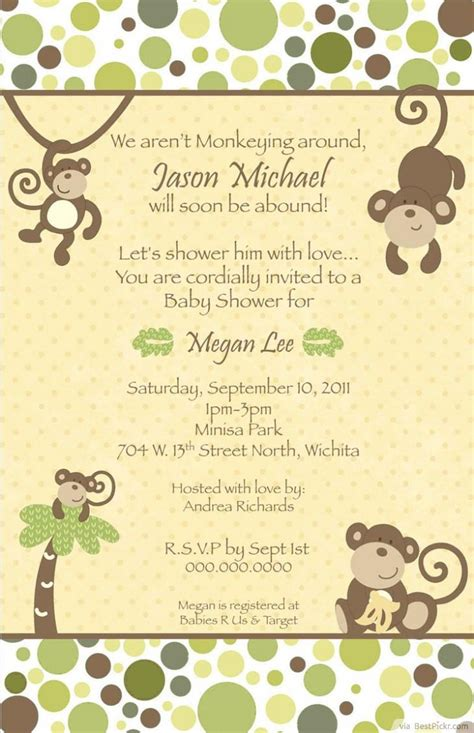 free monkey baby shower invitation templates free printable monkey baby shower invitations theruntime