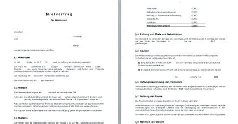 Mietvertrag Muster Wohnung 4827 by Mietvertrag Wohnung Brunnen Mietvertrag