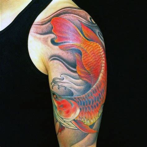 nice half sleeve awesome arowana tattoo golfian com
