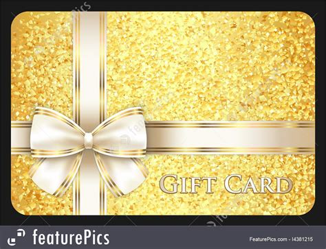 My Ribbon Gift Card Price - golden gift card stock illustration i4381215 at featurepics