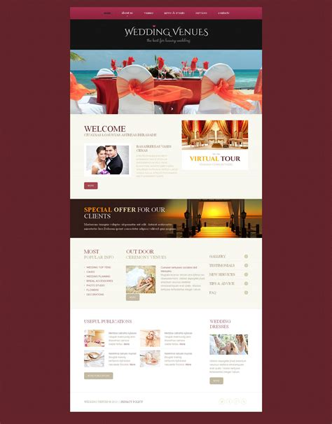 Wedding Cms by Wedding Venues Moto Cms Html Template 46581