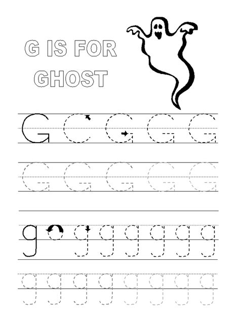 free printable tracing letter g trace letter g worksheets activity shelter