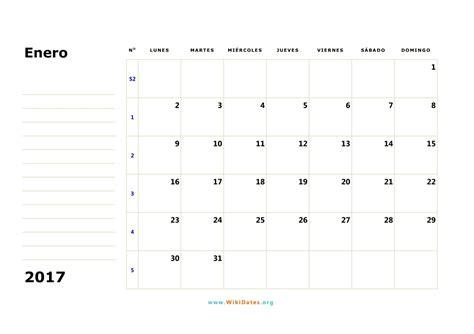 plantilla calendario enero 2017 calendario enero 2017 wikidates org