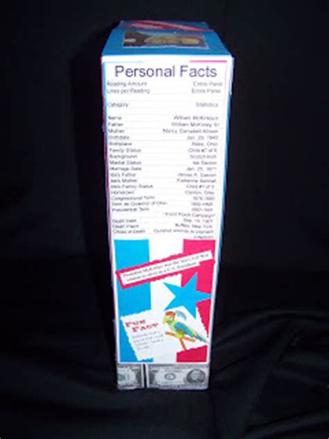 curator s corner cereal box biography