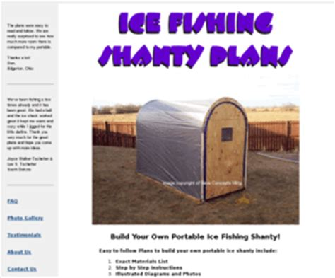 portable ice house plans icefishingcrazy com complete plans to make an ice fishing portable