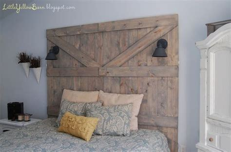 Barn Door Headboard Diy by 13 Diy Headboards Made From Repurposed Wood