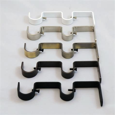 where to hang curtain rod brackets how to hang double curtain rod brackets interior
