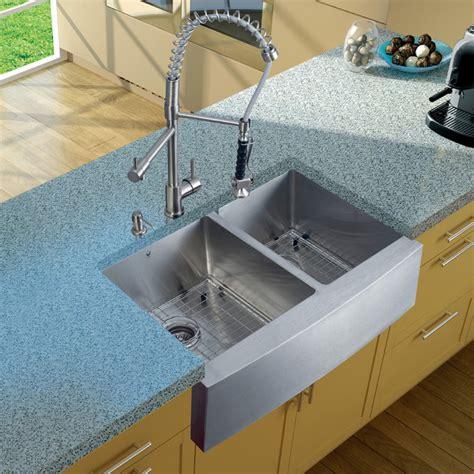 vigo stainless steel double bowl farmhouse kitchen sink