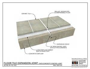 06 130 1302 floor tile expansion joint concrete