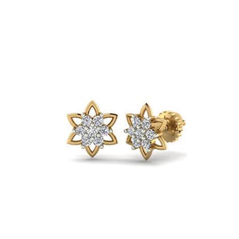 small sized flower stud earrings augrav