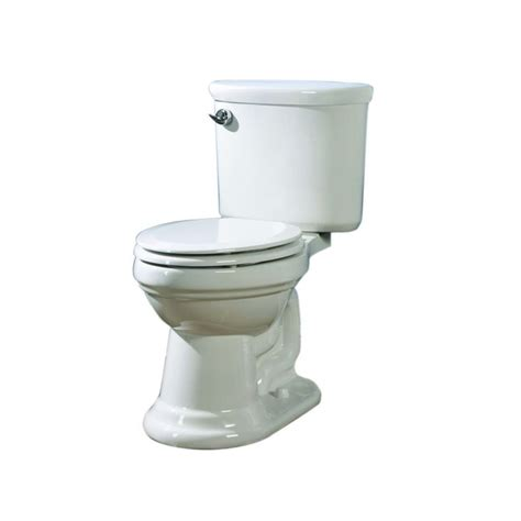 lowes bathroom toilets shop aquasource dreyton white 1 28 gpf 4 85 lpf 12 in