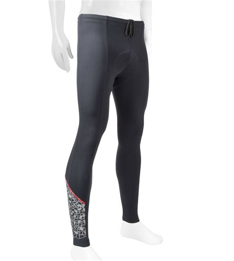 mens reflective cycling mens reflective cycling tights 3m shattered glass w elite