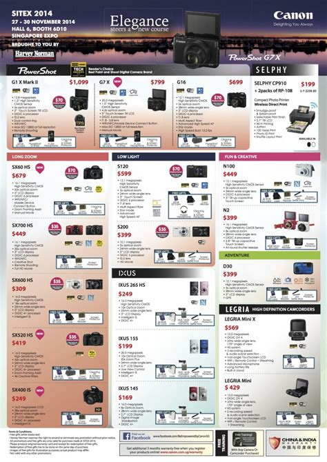 canon offers sitex 2014 canon cameras and printers