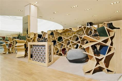 modern shoe store interior an ancient form design sergio