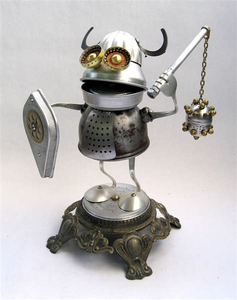 Cool Shop Re Found Objects by Alrik Found Object Robot Assemblage Sculpture By Brian M