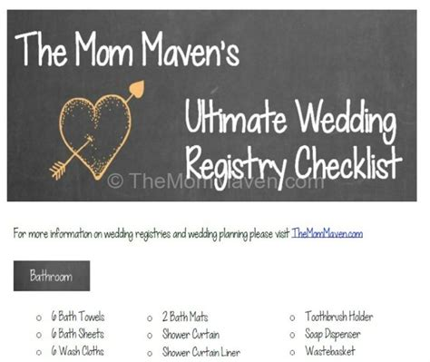 Wedding Registry Knot by Wedding Checklist Ultimate Wedding Registry Checklist
