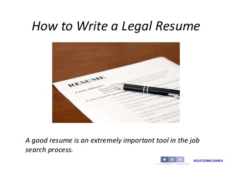 How To Write The Attorney Resume How To Write A Resume