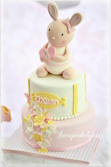 Happy Diapers Macaroons shabby chic bunny themed 1st birthday with such