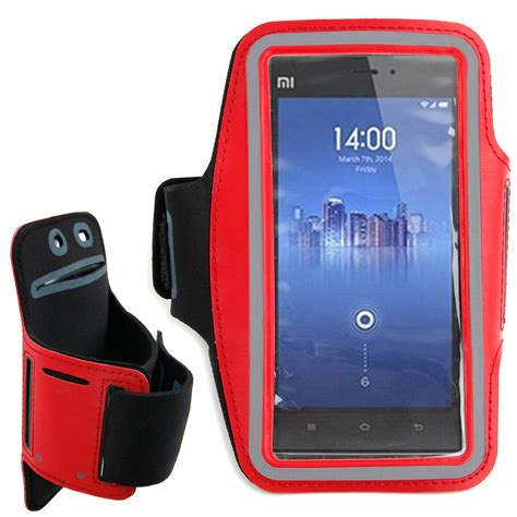 Armband For Xiaomi Mi3 Merah by Sports Running Armband Cover Pouch Holder