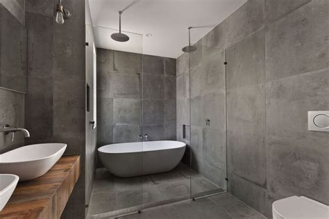 bathtub with glass wall glass bathroom walls for master suite separation