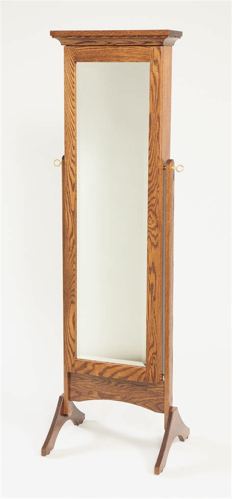 Wooden Mirror Jewelry Armoire by Mirrored Jewelry Armoire Amish Valley Products