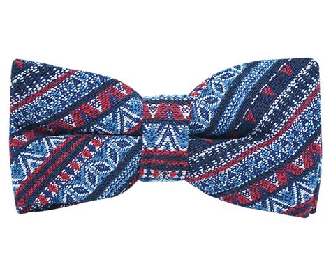 Hq 11336 Bow Scarf Sweater Grey blue aztec bow tie