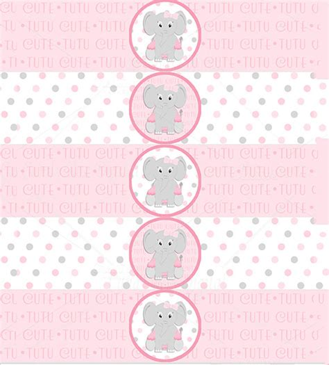 baby shower labels template 7 water bottle label templates free sles exles