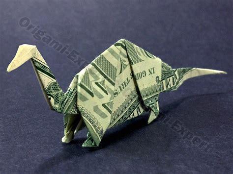 Origami Apatosaurus - money origami apatosaurus dinosaur dollar bill