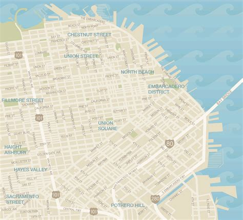 san francisco map by district map of san francisco shopping guide san francisco s