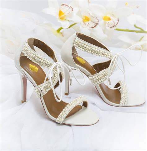 Pearl Wedding Shoes by Maisie Ivory Pearl Wedding Shoes By Vintage Styler