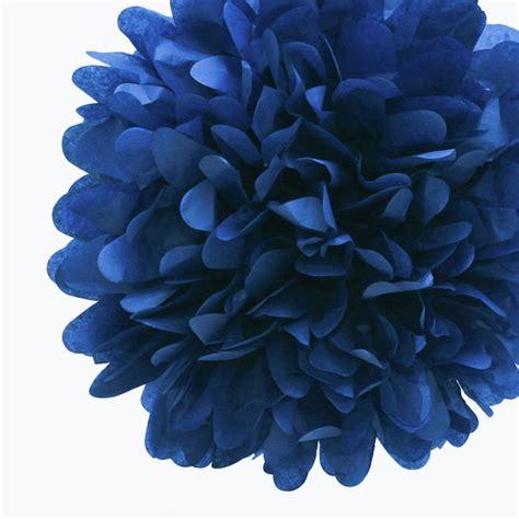 Pom Poms Tissue Paper - 8 blue tissue paper pom pom flowers hanging