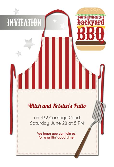 grillin good time bbq party invitation template   island